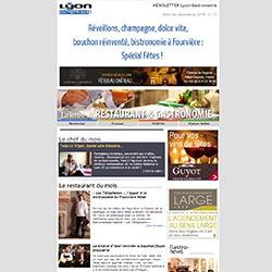 Newsletter Lyon-Gastronomie Edition Spéciale Fêtes