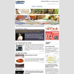 Newsletter Lyon-Gastronomie Edition Spéciale TERRASSES