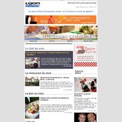 Newsletter Lyon-Gastronomie Edition Spéciale Vins & Oenologie