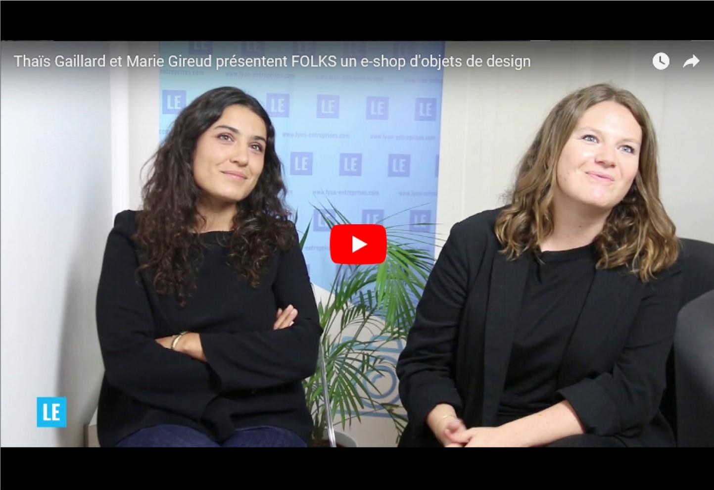 Thaïs Gaillard et Marie Gireud présentent FOLKS un e-shop d'objets de design