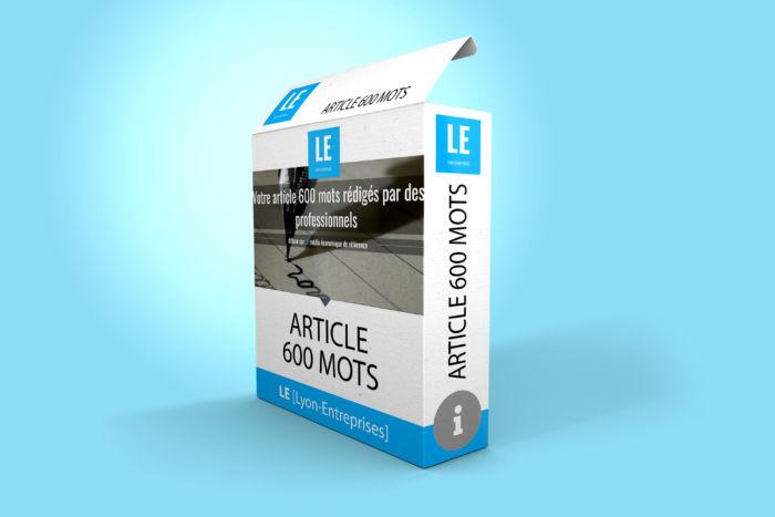 Rédaction et diffusion article 600 mots sur LE Lyon-Entreprises